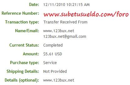 primer pago 123bux
