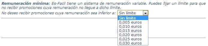 límite de emails en EsFacil