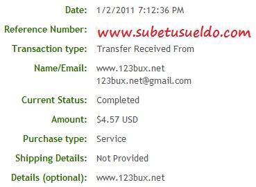 segundo pago 123bux