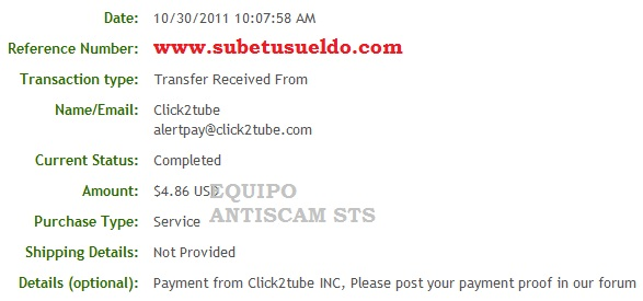 pago de click2tube