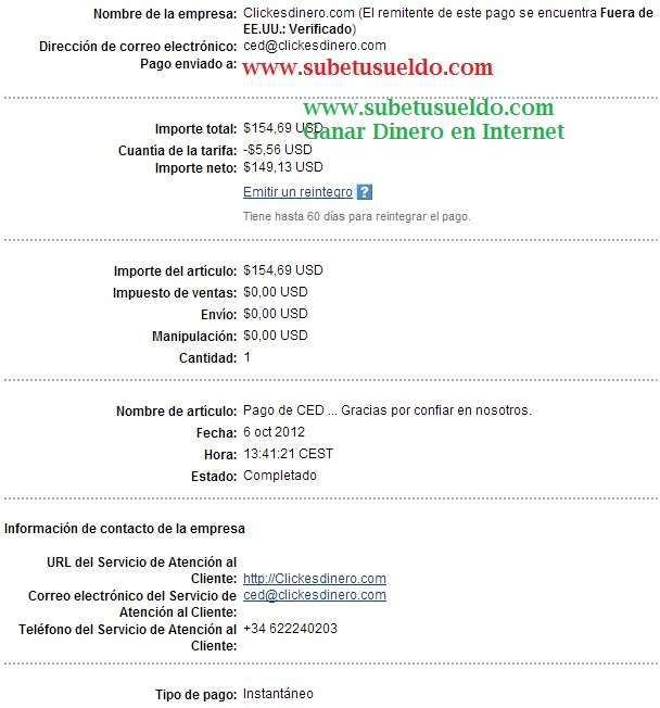 Pago de Clickesdinero