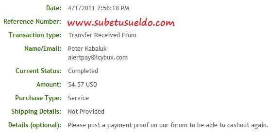 pago de icybux