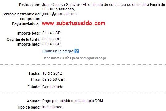 Pago de LatinaPTC