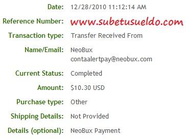 40 pagos instantaneos en neobux