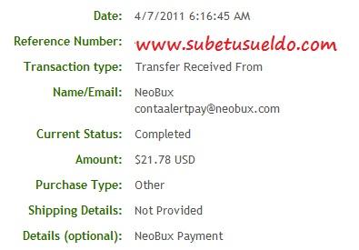 comprobante de pagos en neobux