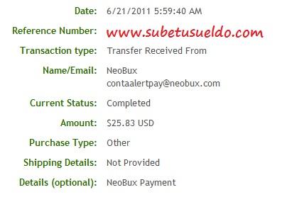prueba de pago neobux
