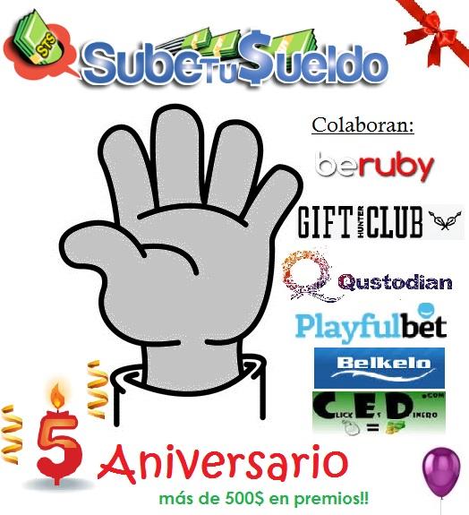 quinto aniversario de SubeTuSueldo